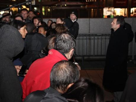 Le PDG de la SITL s'exprime devant ses salariés - photo Lyonmag.com