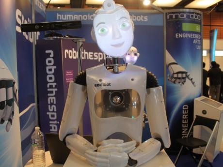 Socibot, l'un des nombreux robots présents à Lyon - Photo Lyonmag.com