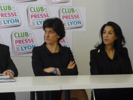 Sylvie Goulard (à gauche), députée européenne et candidate UDI-MODEM pour la région Sud-Est aux européennes. Photo Lyonmag.com