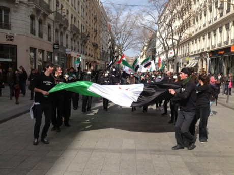 Les manifestants samedi après-midi - LyonMag.com