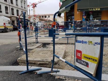 Une partie du chantier cours Lafayette - LyonMag