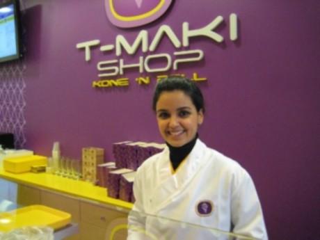 Tabata Bonardi dans le restaurant qu'elle a créé à Lyon, le T-Maki Shop - DR L'Hôtellerie Restauration.fr