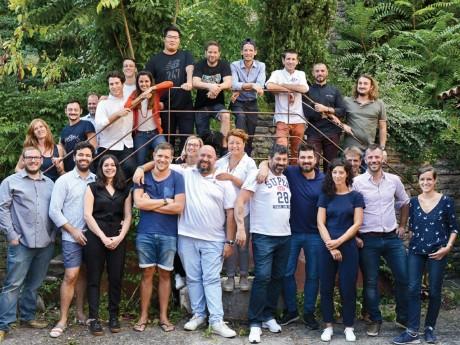 Tabata et Ludovic Mey entourés des chefs participant au Food Traboule - DR Nicolas Villion