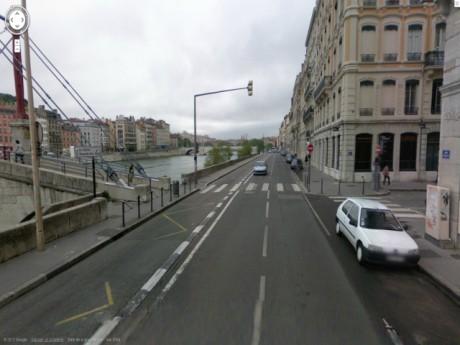 Le quai Tilsitt où s'est produit l'accident - DR Google