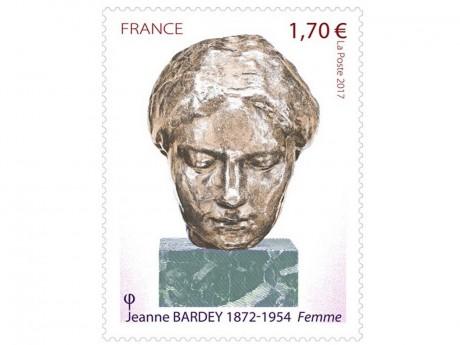 Le timbre anniversaire à l'effigie de Jeanne Bardey - DR