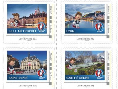 Les timbres collector de l'Euro 2016 - DR