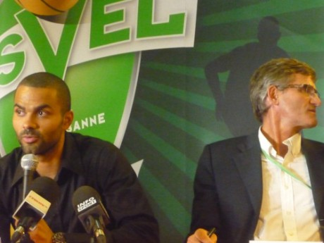 Tony Parker et Gilles Moretton - Photo Lyonmag.com