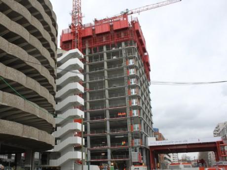 Le chantier de la tour InCity - LyonMag