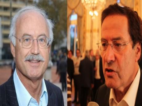Jean-Louis Touraine et Pierre-Alain Muet - Montage LyonMag