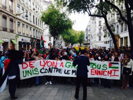 Les pros-palestiniens manifestent à Lyon - LyonMag