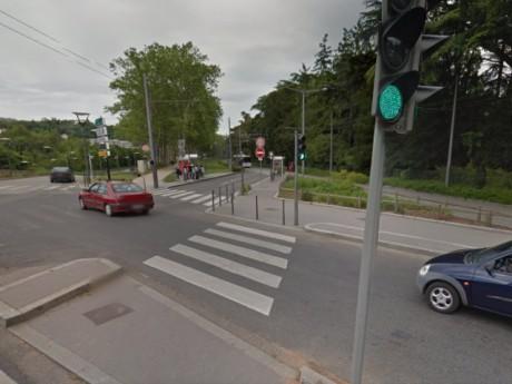 Les lieux de l'accident - photo DR Google