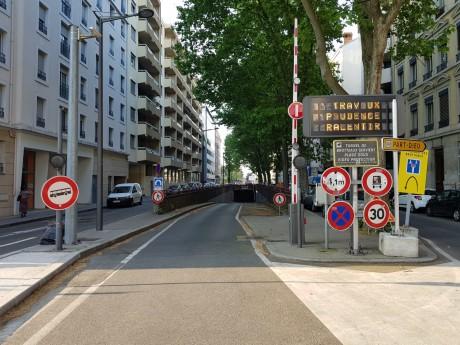 L'entrée du tunnel Brotteaux-Servient, dans le 6e arrondissement de Lyon - LyonMag