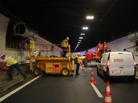 Les travaux sous le tunnel de Fourvière - LyonMag