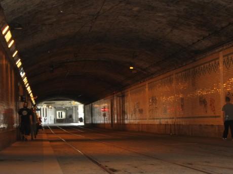 Le tunnel du tramway à Perrache - LyonMag