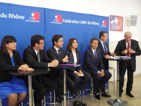Les cinq candidats lors de la présentation des modalités du scrutin - LyonMag.com