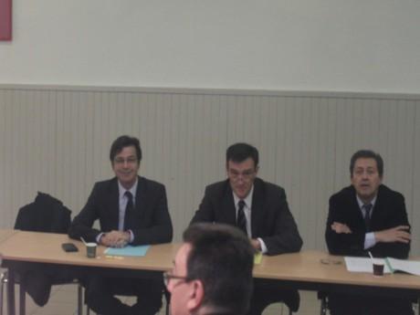 Emmanuel Hamelin, Michel Havard et Georges Fenech lorqu'ils ont pris connaissance des résultats du sondage - LyonMag