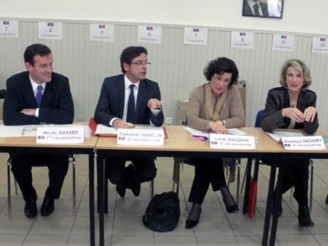 De gauche à droite : Michel Havard, Emmanuel Hamelin, Laure Dagorne et Dominique Nachury - Photo Lyonmag