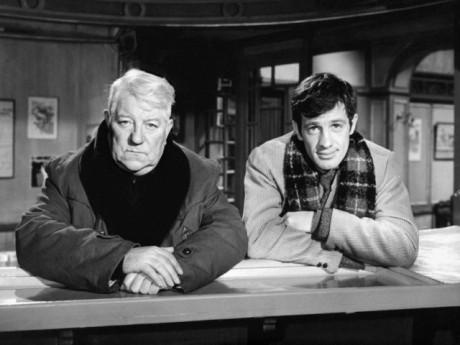 Jean-Paul Belmondo et Jean Gabin dans Un singe en hiver - DR