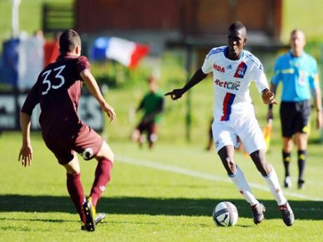 Samuel Umtiti, 18 ans, aura fort à faire samedi soir face à l'armada offensive montpelliéraine - DR Foot01
