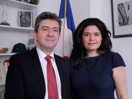 Raquel Garrido, avec Jean-Luc Mélenchon - DR