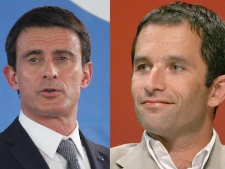 Manuel Valls et Benoît Hamon - Montage LyonMag