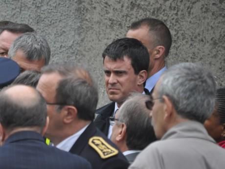 Manuel Valls et Jean-François Carenco, ici au premier plan - LyonMag