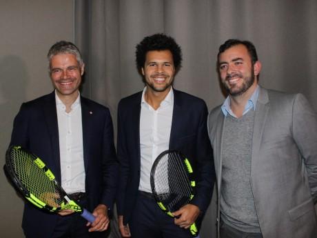 Laurent Wauquiez, Jo-Wilfried Tsonga et Thierry Ascione - LyonMag