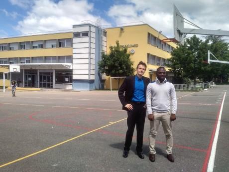 Bruno Wegelin et Jean-Marc Segoun au collège Paul Éluard de Vénissieux - LyonMag