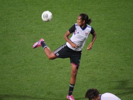 Wendie Renard a marqué le seul but lyonnais de la rencontre - LyonMag