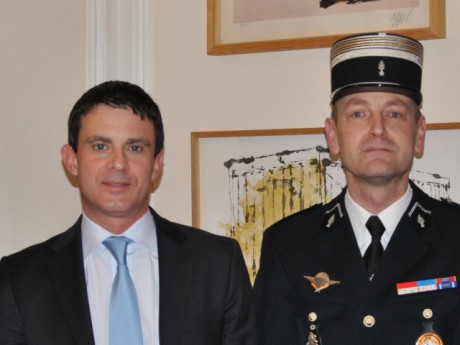 Didier Wioland, ici avec Manuel Valls - DR