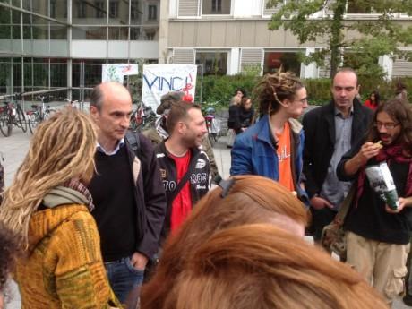 Etienne Tête (à gauche) et quelques Fils de Butte ce lundi - LyonMag