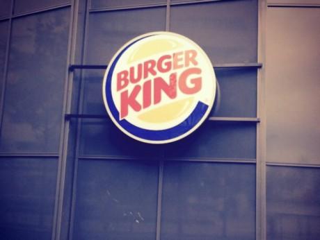 Le logo Burger King vient d'être installé à Confluence - photo Lyonmag.com