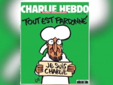 La Une de Charlie Hebdo de ce mercredi 14 janvier - DR