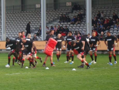 Le LOU Rugby à l'échauffement - LyonMag