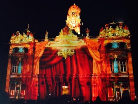La place des Terreaux illuminée - photo Lyonmag.com
