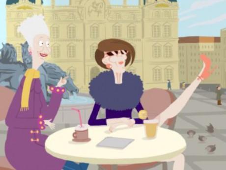 Juliette et une amie prennent le café aux Terreaux - Image ARTE