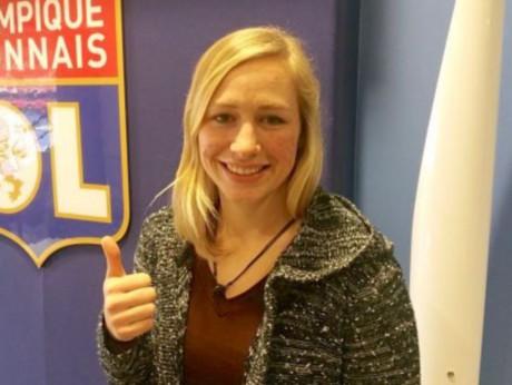 Pauline Bremer, après la signature de son nouveau contrat - DR OL