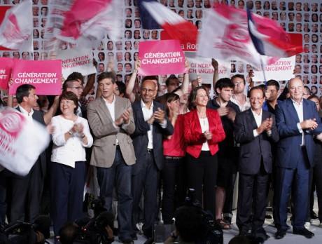 Les six candidats à La Rochelle lors des universités d'été du PS fin août - DR