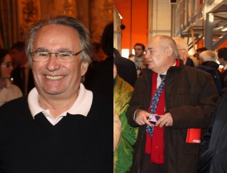 Bernard Rivalta, président du Sytral et son vice-président Georges Barriol - DR