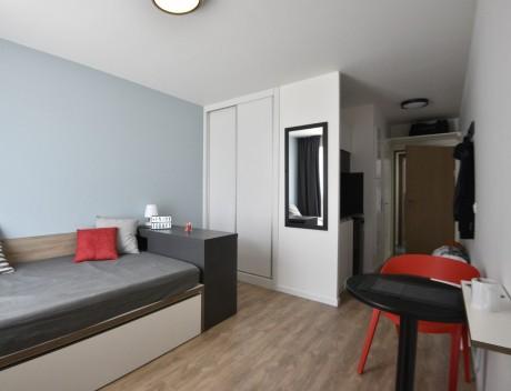 Une chambre du futur campus lyonnais - DR
