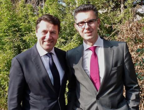 Christian Estrosi et Yann Compan - DR
