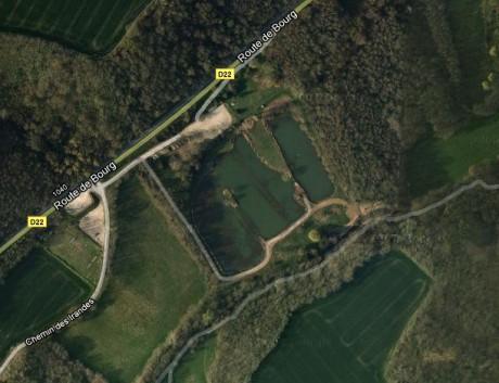 Capture d'cran Google Maps du Lac Neyton à Dagneux - LyonMag