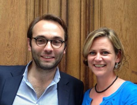Jérémie Bréaud et Aurélie Bonnet-Saint-Georges, deux Jeunes Elus UMP - DR