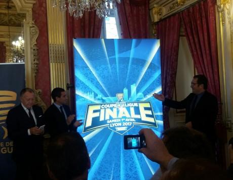 L'affiche de la finale de la Coupe de la Ligue au Parc OL - LyonMag