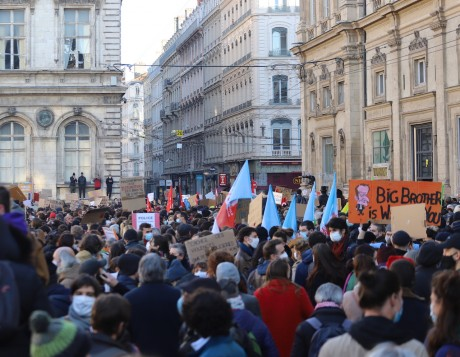 La manifestation de la semaine dernière- LyonMag