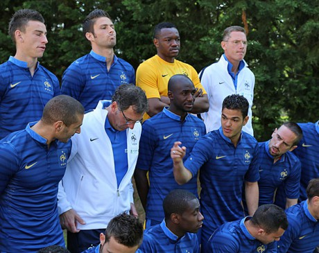 L'Equipe de France sous Laurent Blanc - Photo DR