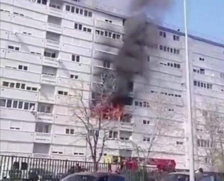 Le logement a été ravagé par le feu - DR Twitter LeMiradorrr