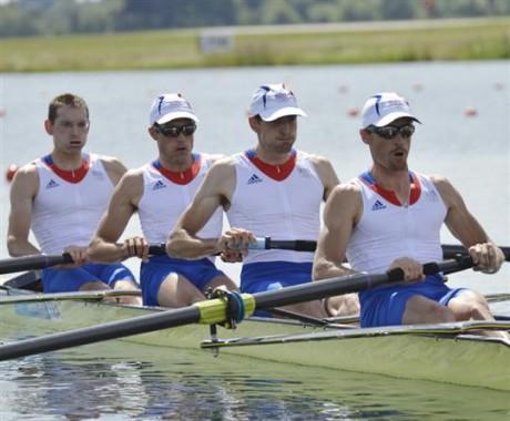 L'équipe du 4 sans barreur éliminée des JO de Londres - Photo AFP/DR