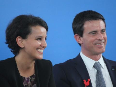 Najat Vallaud-Belkacem et Manuel Valls - LyonMag