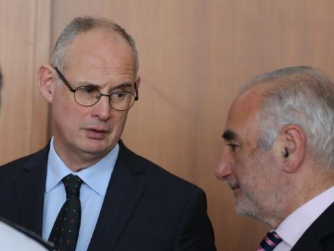 Stéphane Bouillon, à gauche, avec le maire de Lyon Georges Képénékian - LyonMag